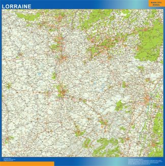 Biggest Lorraine laminated map