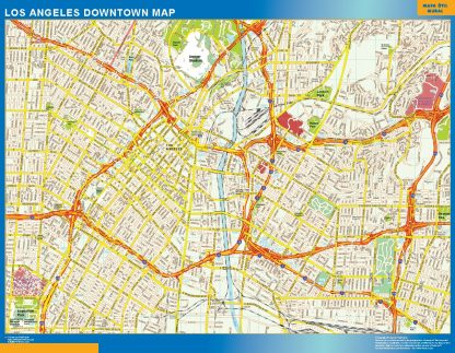 Biggest Los Angeles downtown map