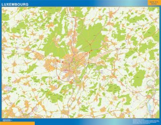 Biggest Luxembourg wall map