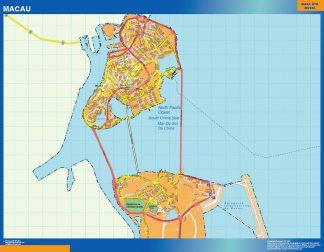 Biggest Macau laminated map