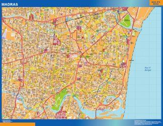 Biggest Madras laminated map