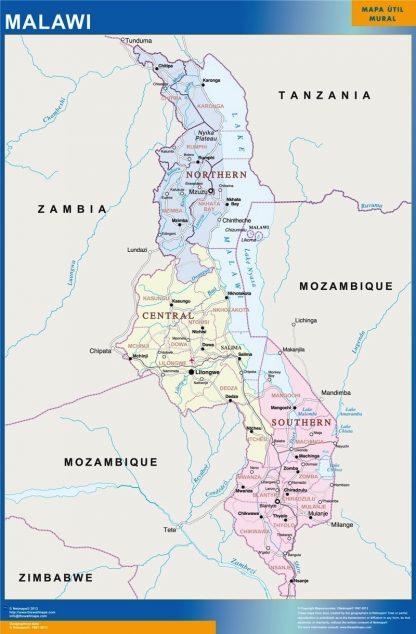 Biggest Malawi map