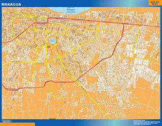 Biggest Managua wall map