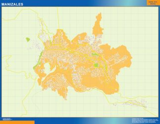 Biggest Manizales map in Colombia