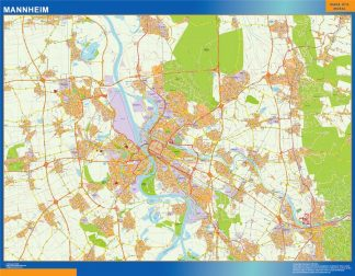 Biggest Mannheim map in Germany
