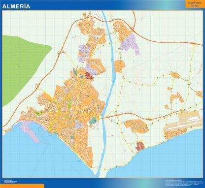 Biggest Map of Almeria Spain