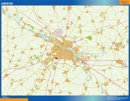 Biggest Map of Amiens France