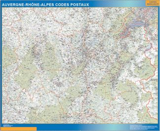 Biggest Map of Auvergne-Rhone-Alpes zip codes