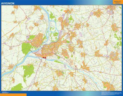 Biggest Map of Avignon France