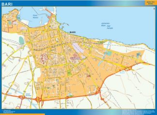 Biggest Map of Bari city in Italy