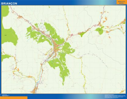 Biggest Map of Briancon France