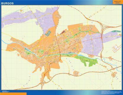 Biggest Map of Burgos Spain