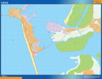 Biggest Map of Cadiz Spain