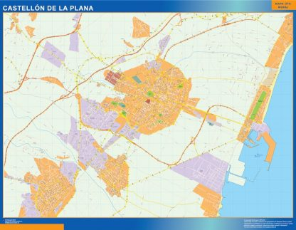 Biggest Map of Castellon de la Plana Spain