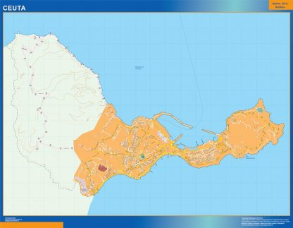 Biggest Map of Ceuta Spain