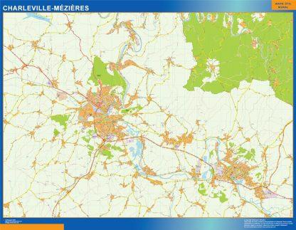 Biggest Map of Charleville Mezieres France