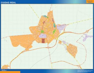 Biggest Map of Ciudad Real Spain