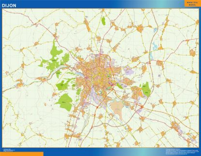 Biggest Map of Dijon France