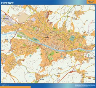 Biggest Map of Firenze city in Italy