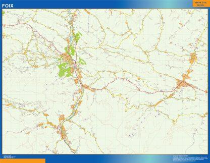 Biggest Map of Foix France