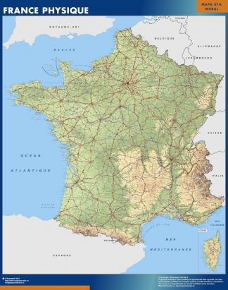 Biggest Map of France physical