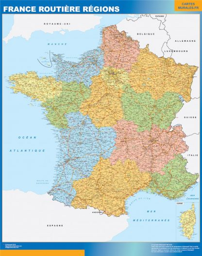 Biggest Map of France roads regional
