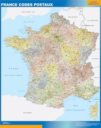 Biggest Map of France zip codes