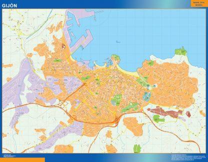 Biggest Map of Gijon Spain