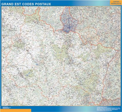 Biggest Map of Grand Est zip codes