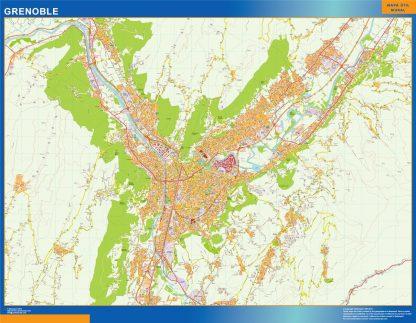 Biggest Map of Grenoble France