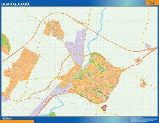 Biggest Map of Guadalajara Spain