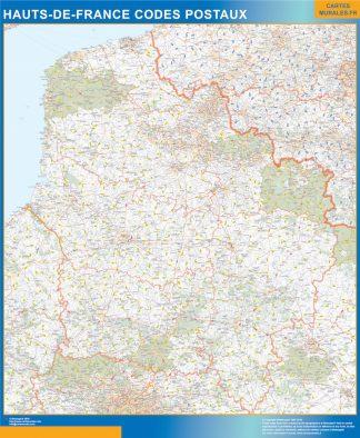 Biggest Map of Hauts de France zip codes