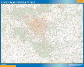 Biggest Map of Ile de France zip codes