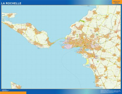 Biggest Map of La Rochelle France