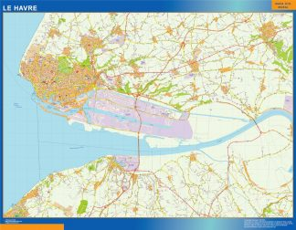Biggest Map of Le Havre France