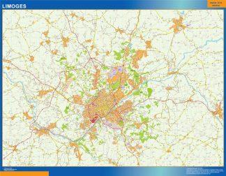 Biggest Map of Limoges France