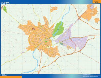 Biggest Map of Lleida Spain