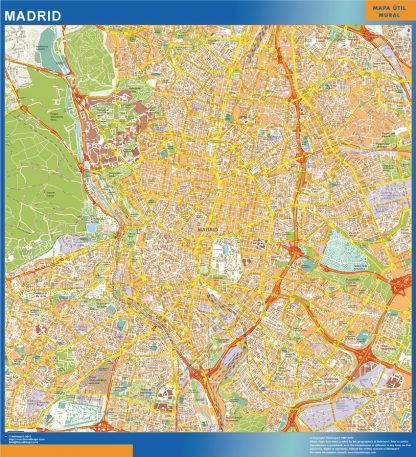Biggest Map of Madrid Spain