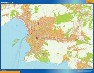 Biggest Map of Marseille France