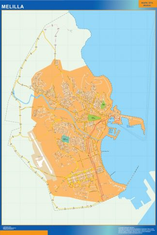 Biggest Map of Melilla Spain