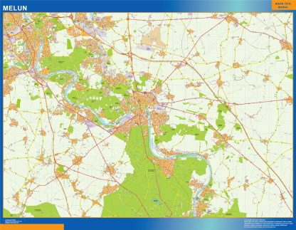 Biggest Map of Melun France