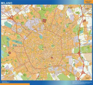 Biggest Map of Milano city in Italy
