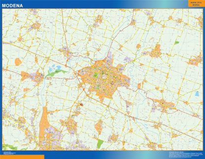 Biggest Map of Modena city in Italy
