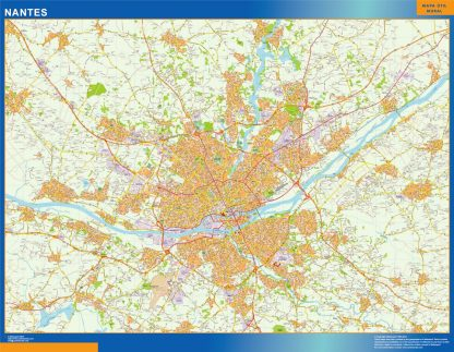 Biggest Map of Nantes France