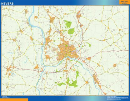 Biggest Map of Nevers France