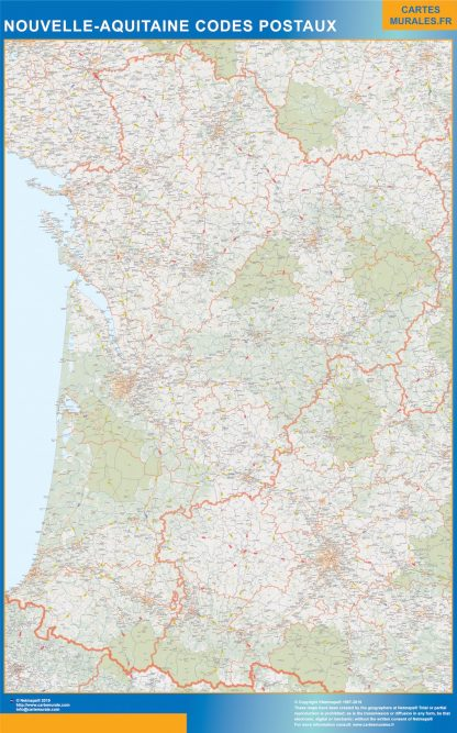 Biggest Map of Nouvelle Aquitaine zip codes
