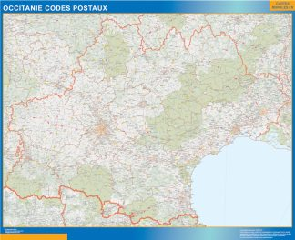 Biggest Map of OccitanIe zip codes