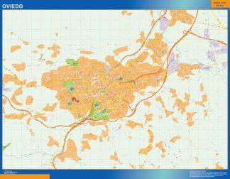 Biggest Map of Oviedo Spain
