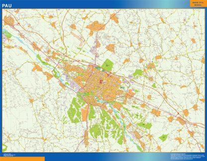 Biggest Map of Pau France