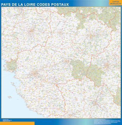 Biggest Map of Pays de la Loire zip codes